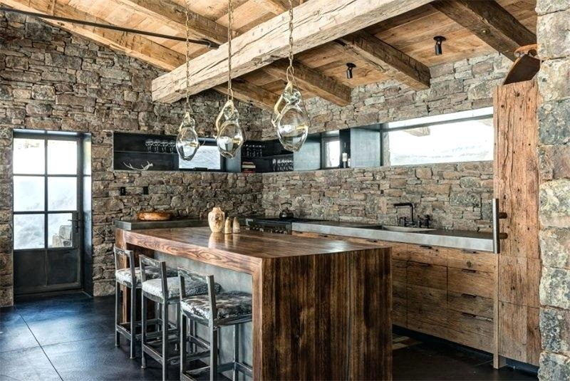 natural-stone-wall-wood-accent-simple-luxury-kitchen-style